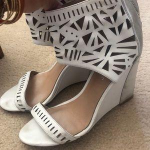 "Nicole Miller white pumps 4"" heels"